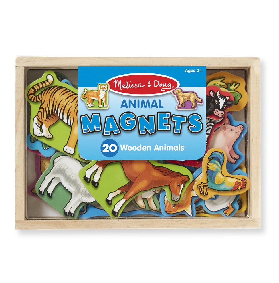Купить Магнитные игры Melissa & Doug Деревянные магнитные животные,