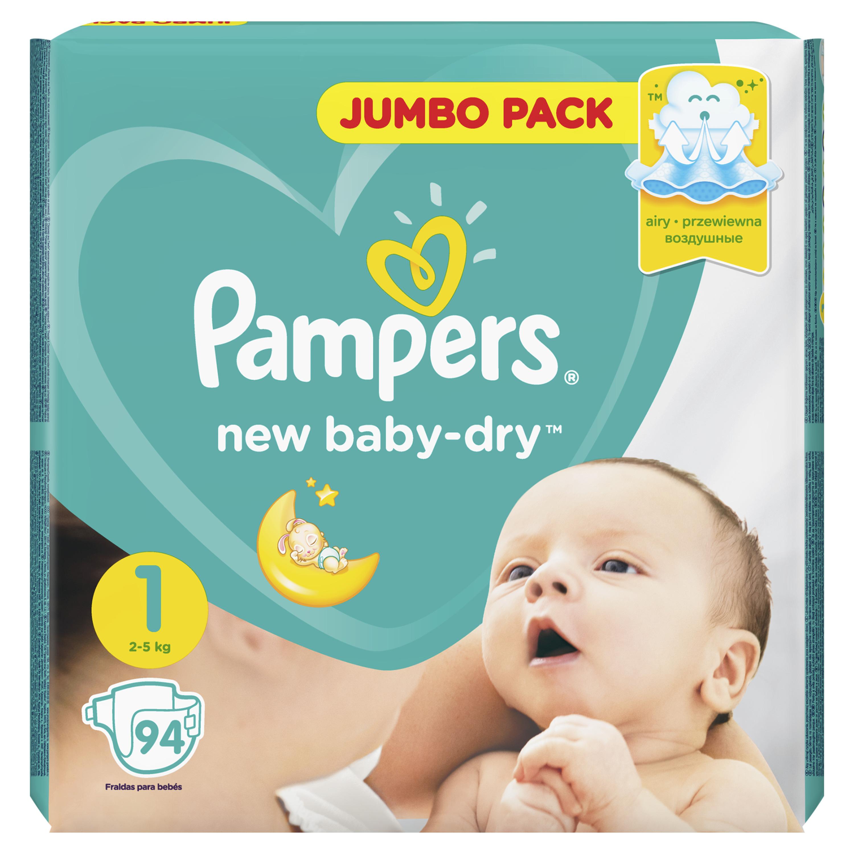 Купить Подгузники для новорожденных Pampers New Baby-Dry newborn (2-5 кг), 94 шт.,