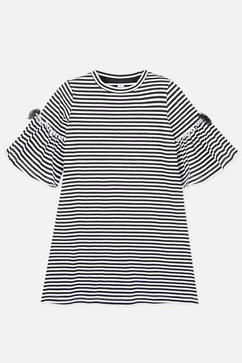 Купить 120121022, Платье PlayToday для девочек, цв. черный, р-р 134, Play Today, Платья для девочек