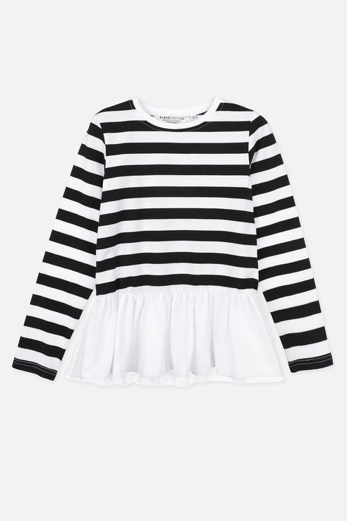 Лонгслив PlayToday для девочек, цв. белый, р-р 152 120121024 по цене 910
