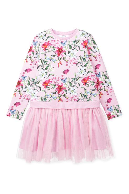 Купить 120123035, Платье PlayToday для девочек, цв. розовый, р-р 134, Play Today, Платья для девочек