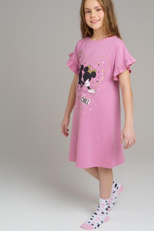 Купить 120124908, Платье PlayToday для девочек, цв. розовый, р-р 134, Play Today, Платья для девочек