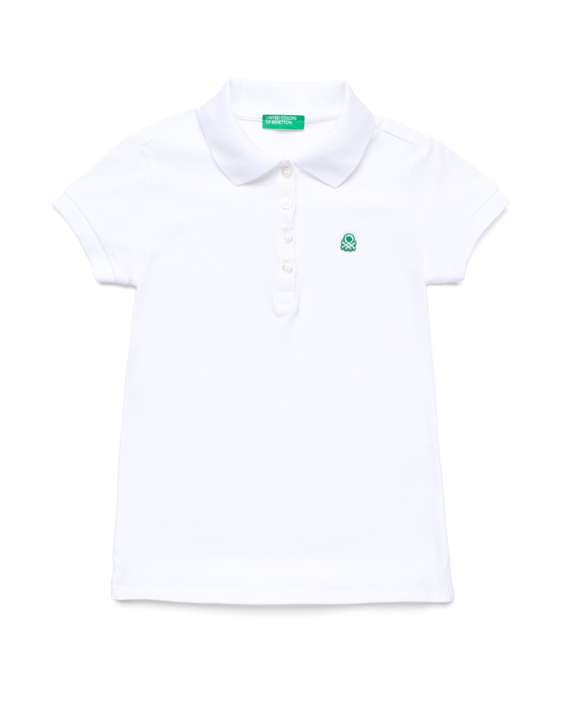 Купить CCC_3WG9C3092_101, Поло-пике для девочек Benetton 3WG9C3092_101 р-р 128, United Colors of Benetton, Детские футболки