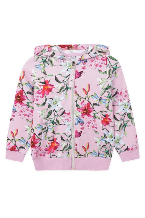 Купить 120223004, Толстовка PlayToday для девочек, цв. розовый, р-р 104, Play Today, Толстовки для девочек