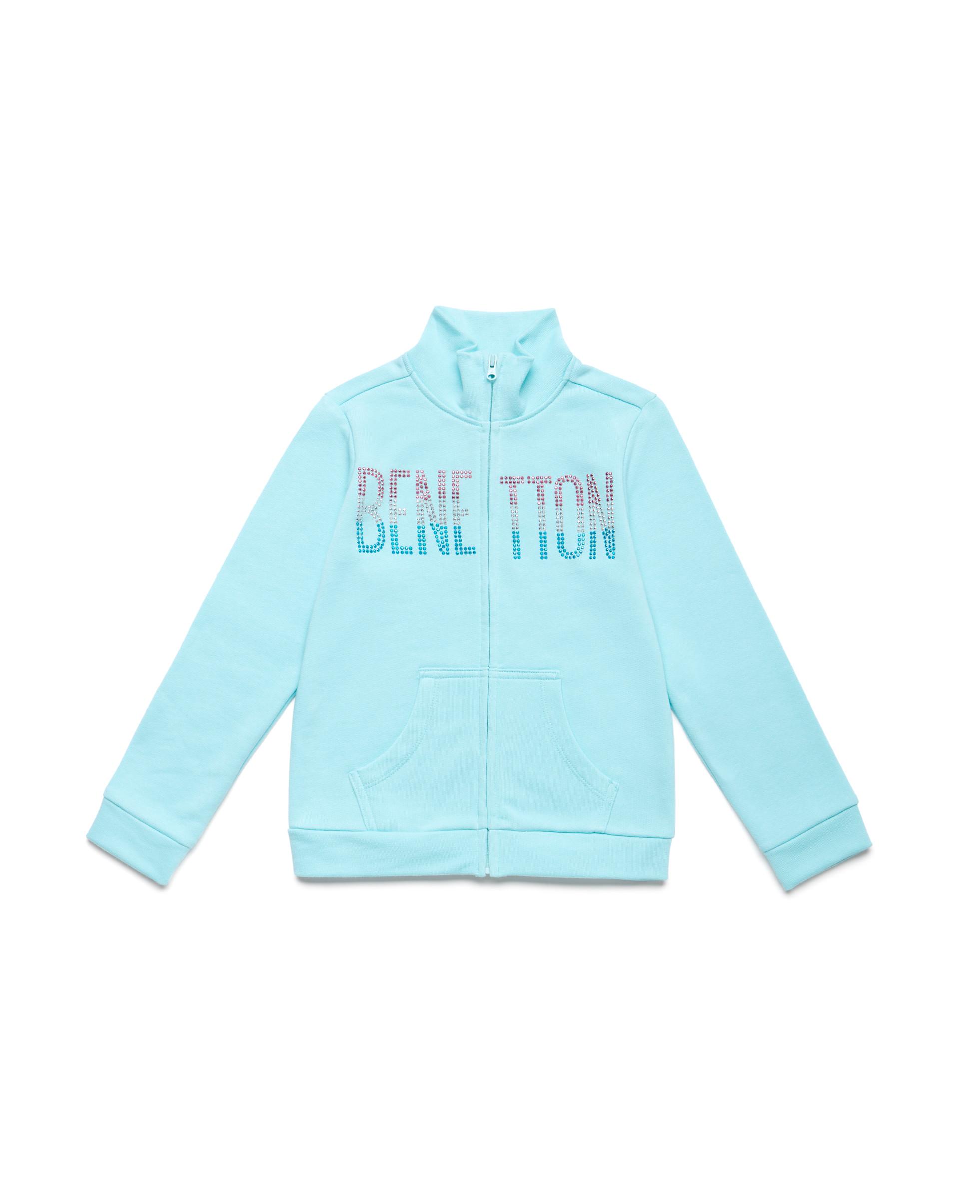 Купить 20P_3J68C5793_0Z8, Толстовка для девочек Benetton 3J68C5793_0Z8 р-р 110, United Colors of Benetton, Толстовки для девочек