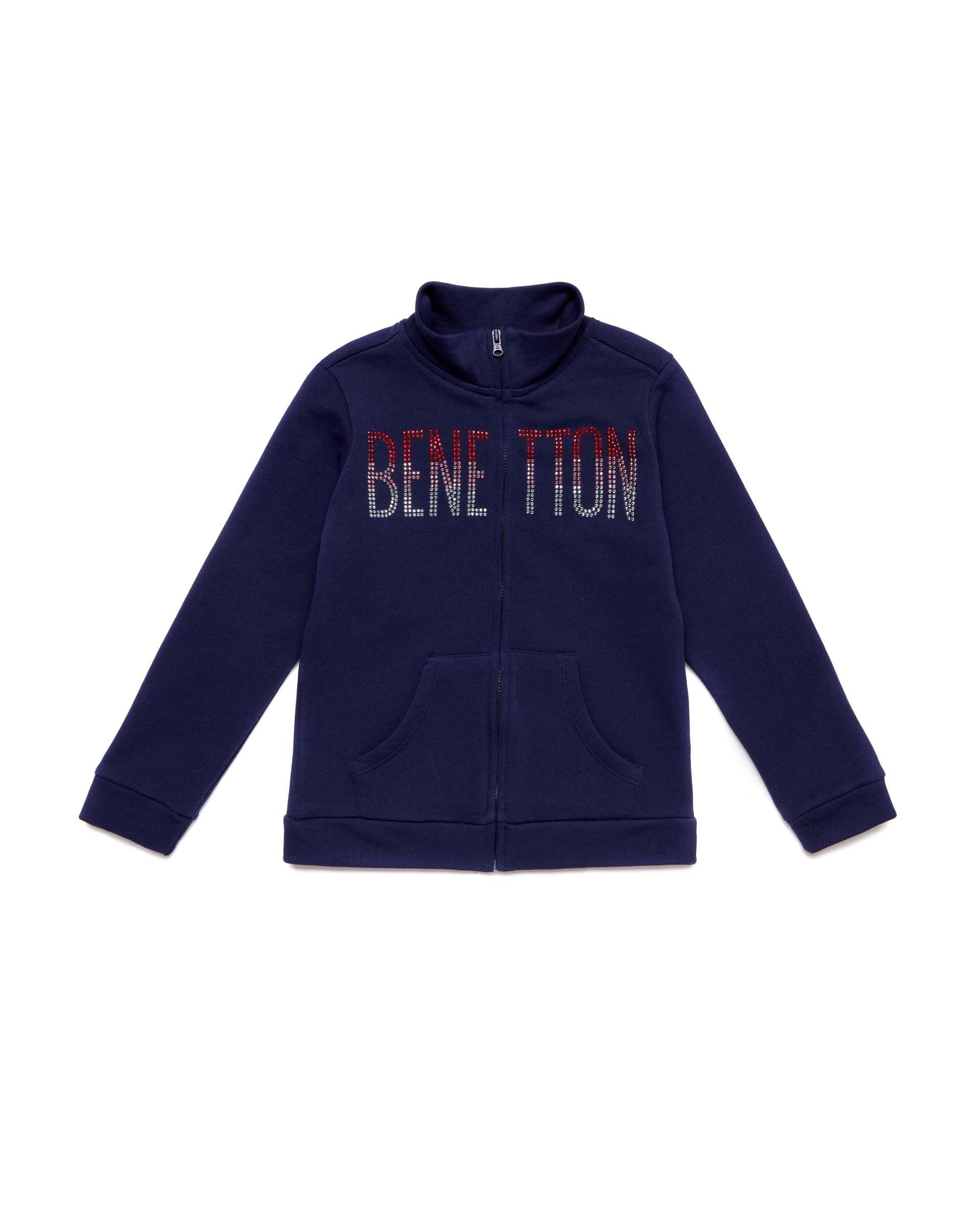 Купить 20P_3J68C5793_252, Толстовка для девочек Benetton 3J68C5793_252 р-р 128, United Colors of Benetton, Толстовки для девочек