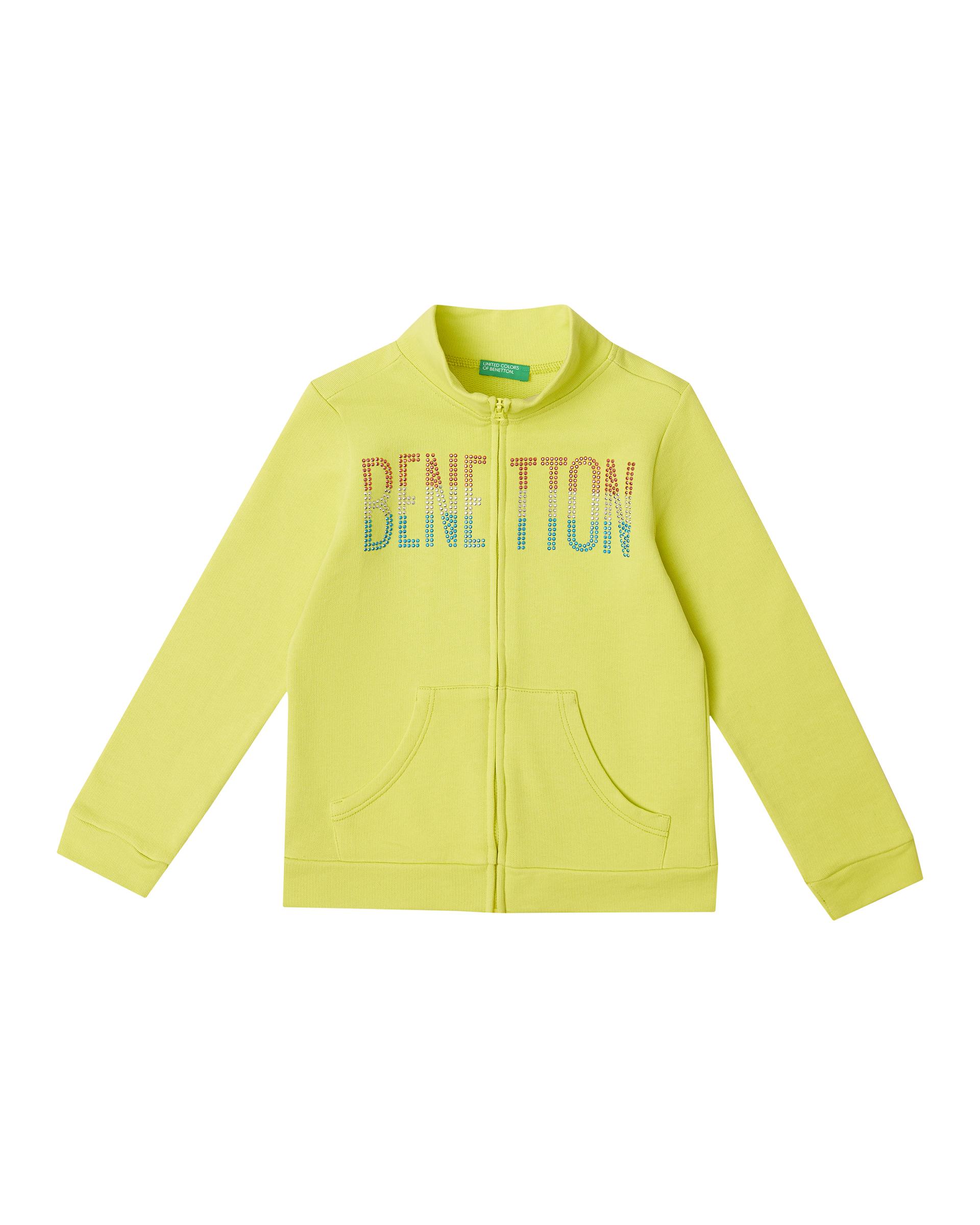 Купить 20P_3J68C5793_28M, Толстовка для девочек Benetton 3J68C5793_28M р-р 140, United Colors of Benetton, Толстовки для девочек