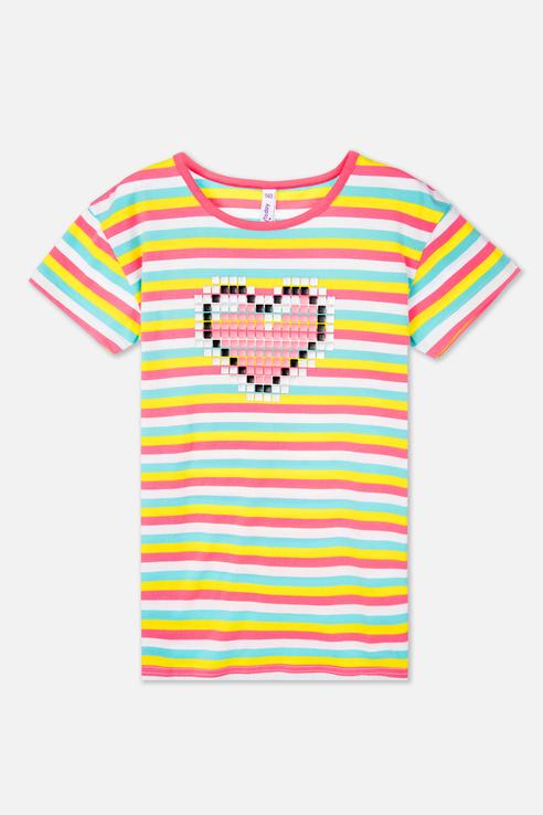 Футболка PlayToday для девочек, цв. розовый, р-р 128 220122004 по цене 630