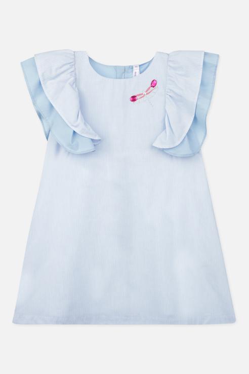 Туника PlayToday для девочек, цв. белый, р-р 134