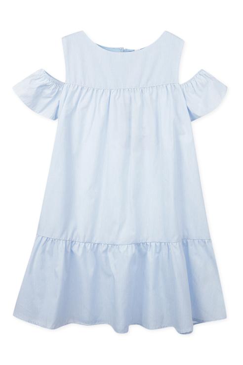 Купить 220123006, Платье PlayToday для девочек, цв. белый, р-р 134, Play Today, Платья для девочек