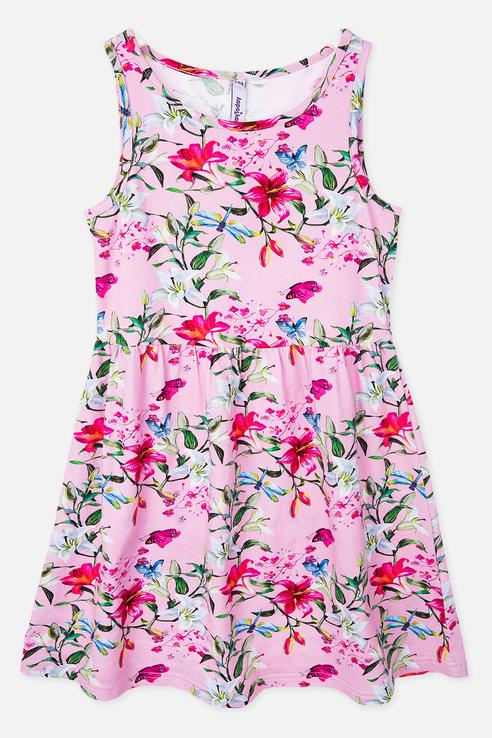 Купить 220123010, Платье PlayToday для девочек, цв. розовый, р-р 134, Play Today, Платья для девочек