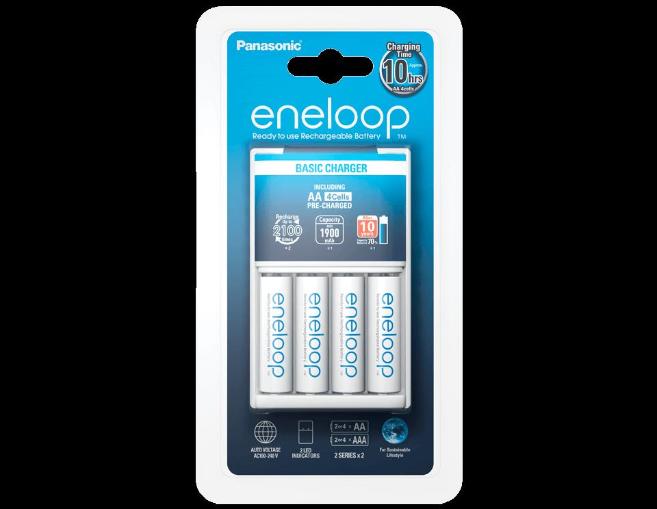 Зарядное устройство Panasonic + аккумуляторные батарейки Eneloop