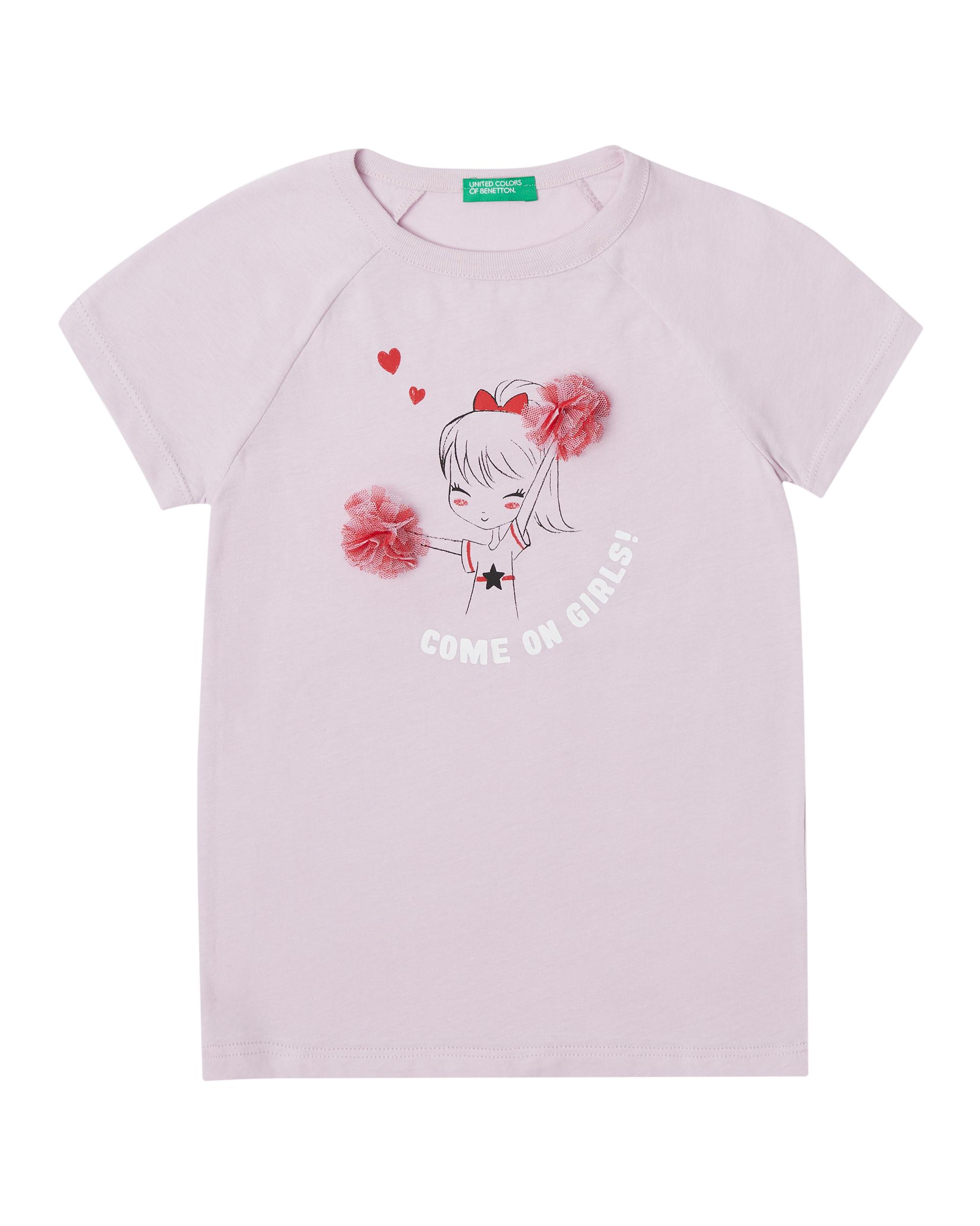Купить 20P_3096C1APP_07M, Футболка для девочек Benetton 3096C1APP_07M р-р 80, United Colors of Benetton, Кофточки, футболки для новорожденных