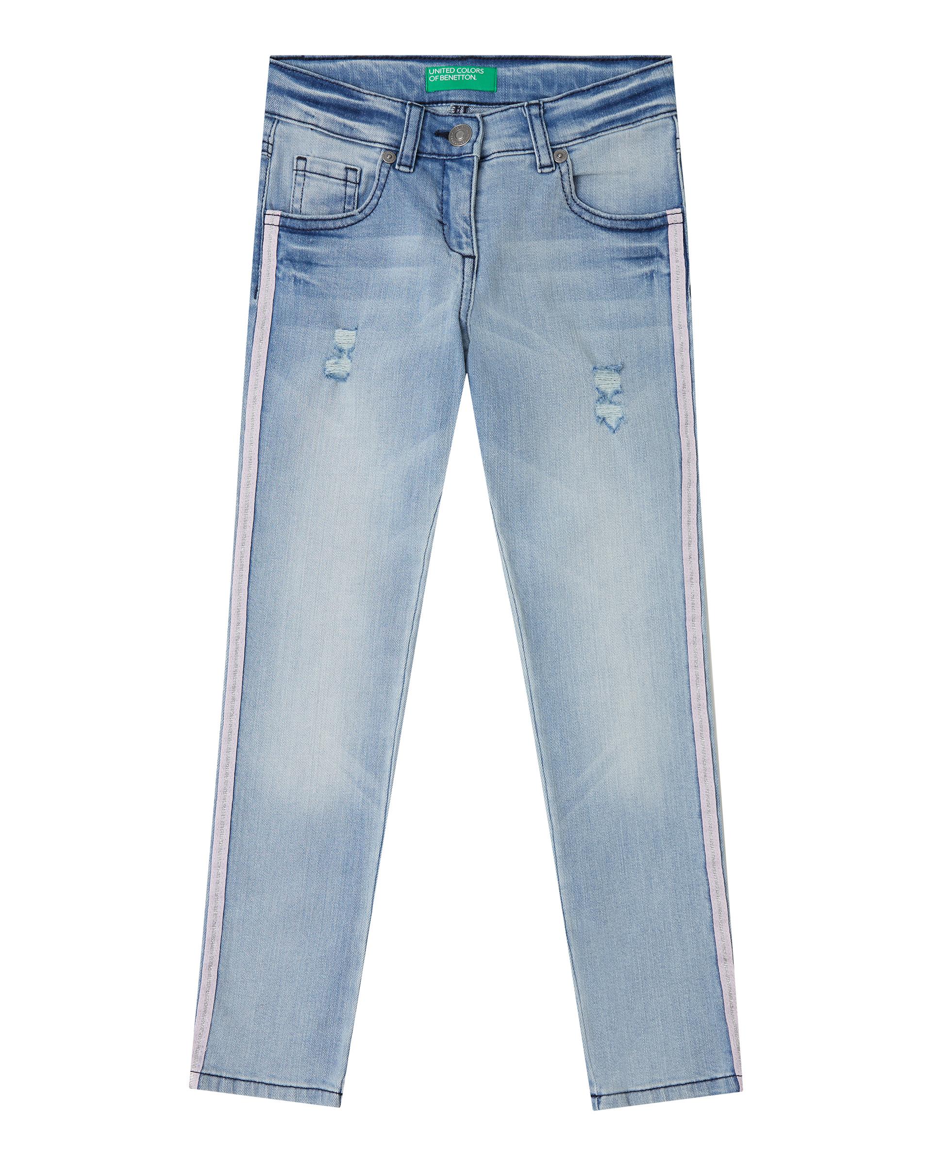 Купить 20P_4OG057LA0_902, Джинсы для девочек Benetton 4OG057LA0_902 р-р 128, United Colors of Benetton