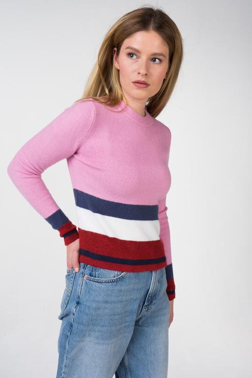 Джемпер женский Tommy Jeans DW0DW05550 розовый S