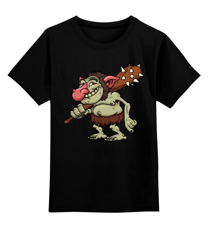 Купить 0000003455689, Детская футболка Printio Гоблин цв.черный р.116,