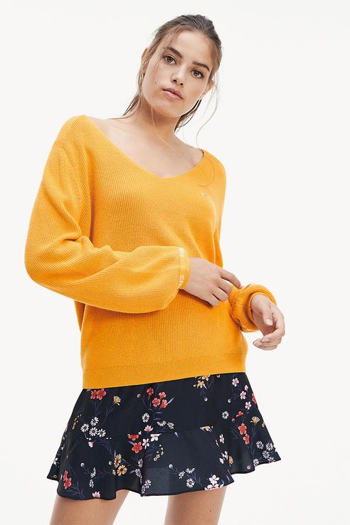 Пуловер женский Tommy Jeans DW0DW07187 желтый S