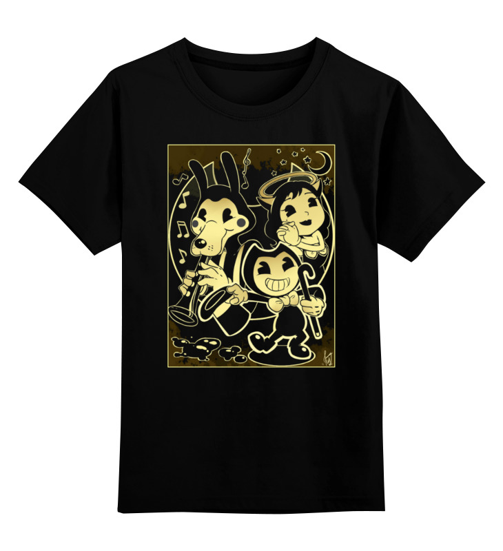 Детская футболка Printio Бенди и чернильная машина цв.черный р.116 0000003456215 по цене 1 190