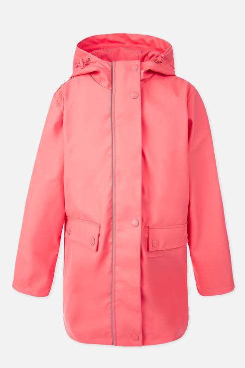 Купить 120127003, Плащ PlayToday для девочек, цв. розовый, р-р 128, Play Today, Дождевики и плащи для девочек