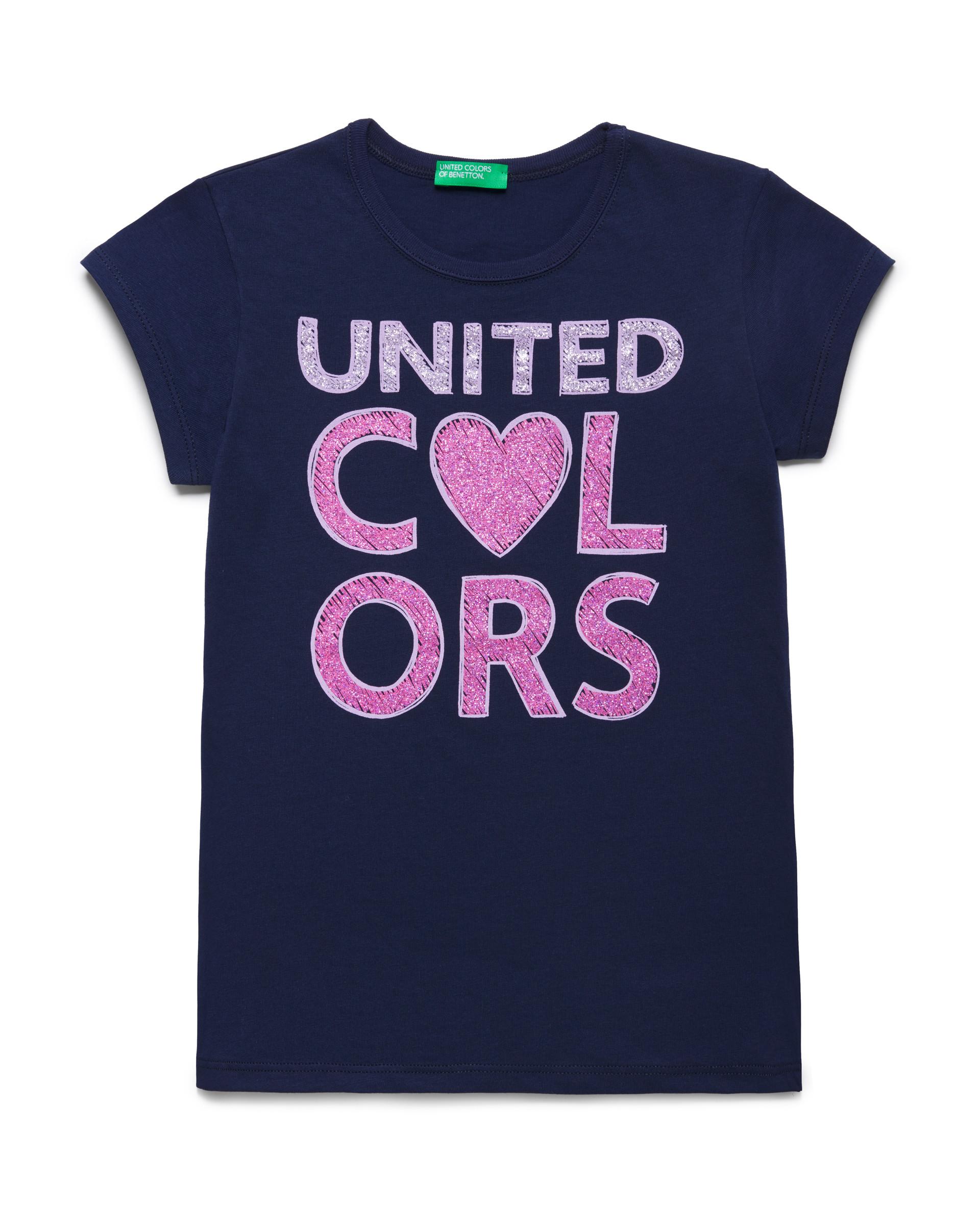 Купить 20P_3096C14J1_252, Футболка для девочек Benetton 3096C14J1_252 р-р 92, United Colors of Benetton, Кофточки, футболки для новорожденных