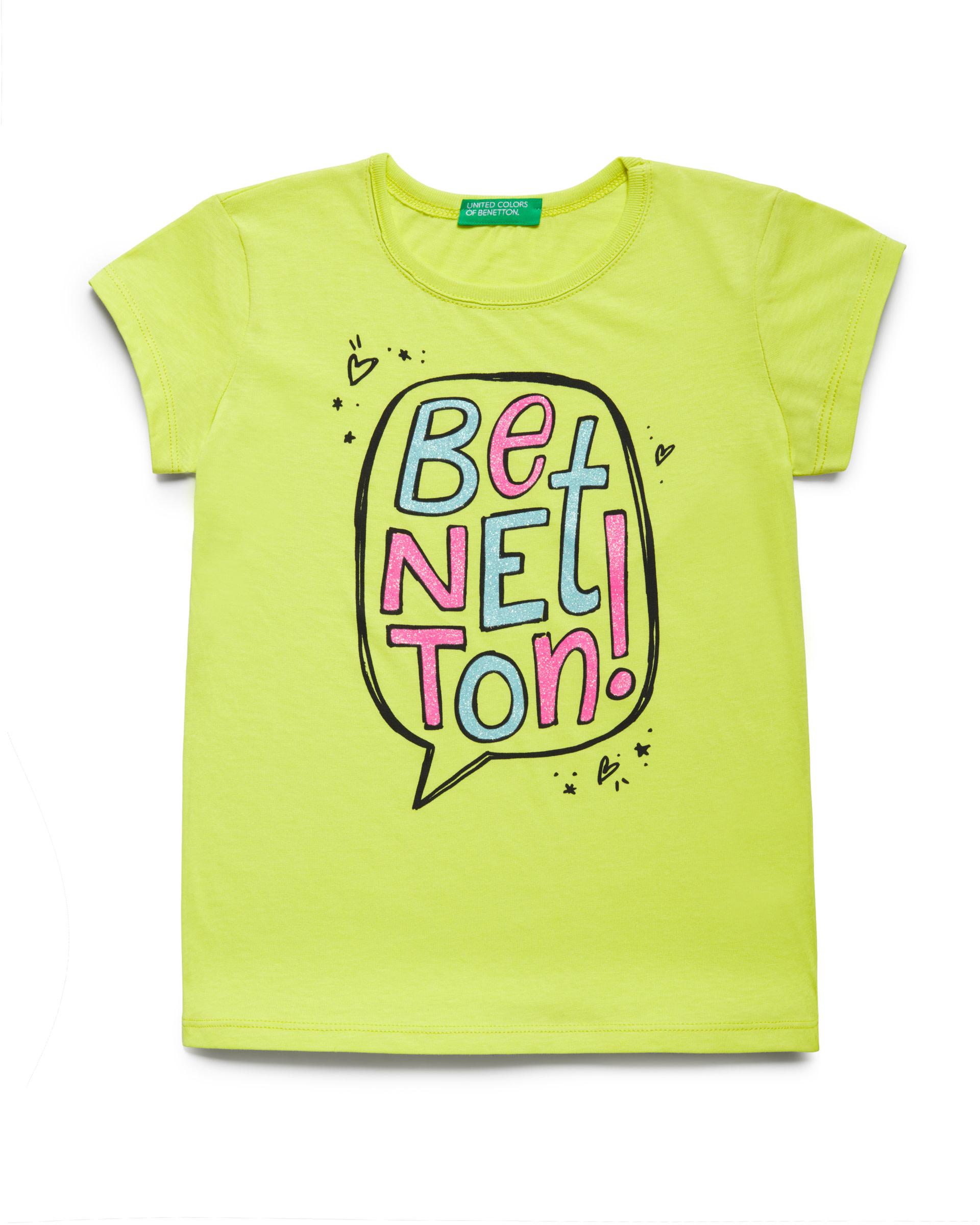 Купить 20P_3096C14J1_28M, Футболка для девочек Benetton 3096C14J1_28M р-р 80, United Colors of Benetton, Кофточки, футболки для новорожденных
