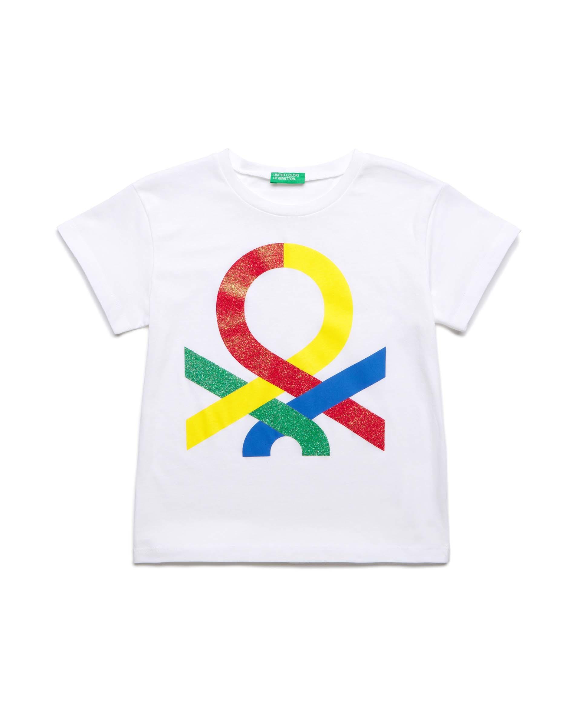 Купить 20P_3I1XC14JT_901, Футболка для девочек Benetton 3I1XC14JT_901 р-р 152, United Colors of Benetton, Футболки для девочек