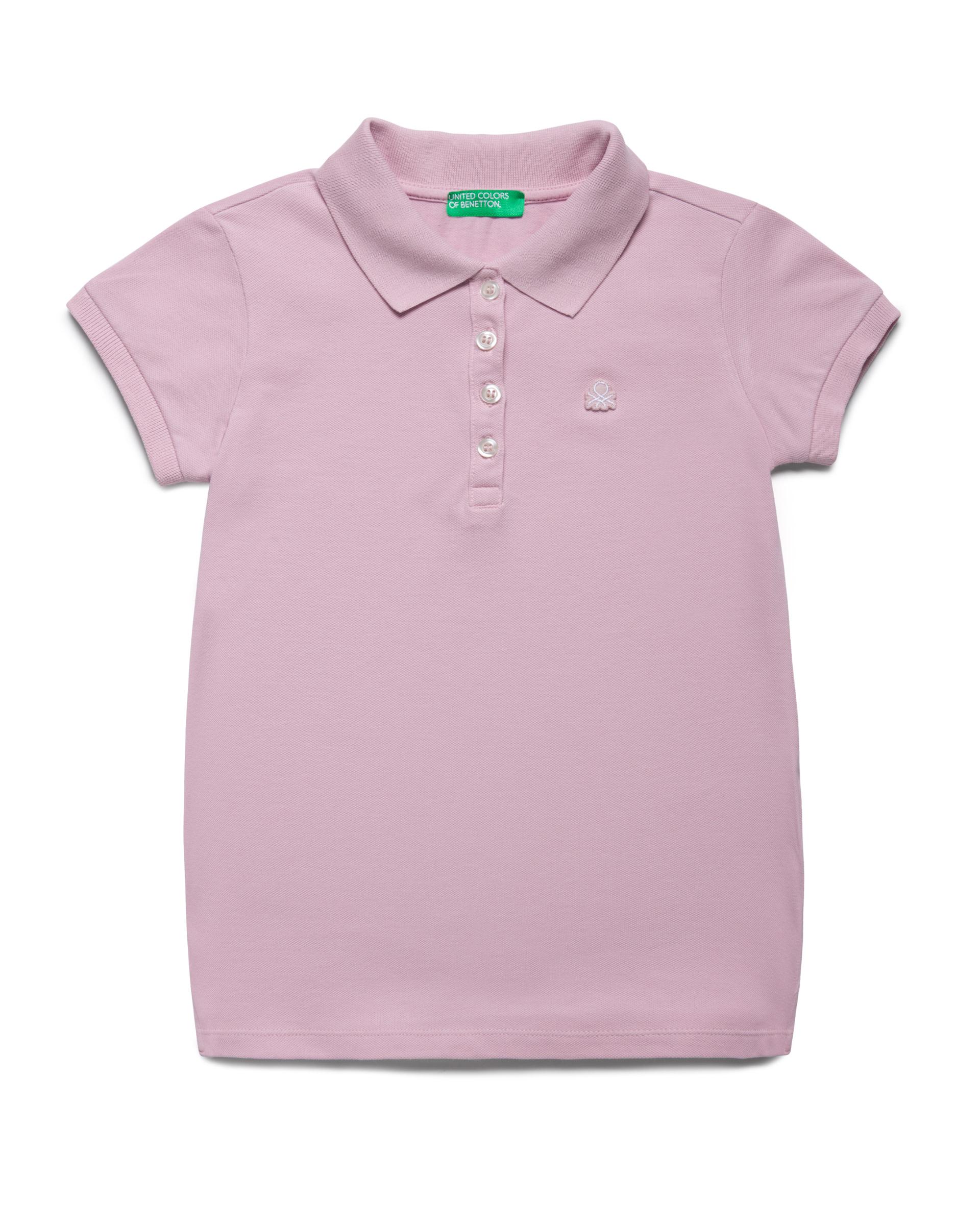 Купить 20P_3WG9C3092_07M, Поло-пике для девочек Benetton 3WG9C3092_07M р-р 128, United Colors of Benetton, Детские футболки