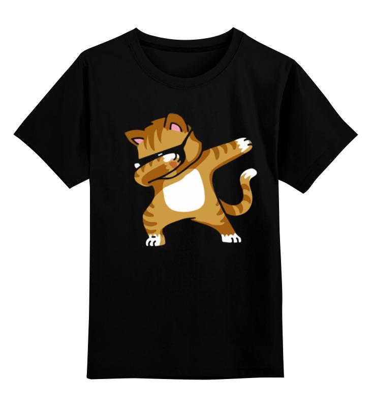 Детская футболка Printio Кот танцует дэб цв.черный р.128 0000003391796 по цене 990