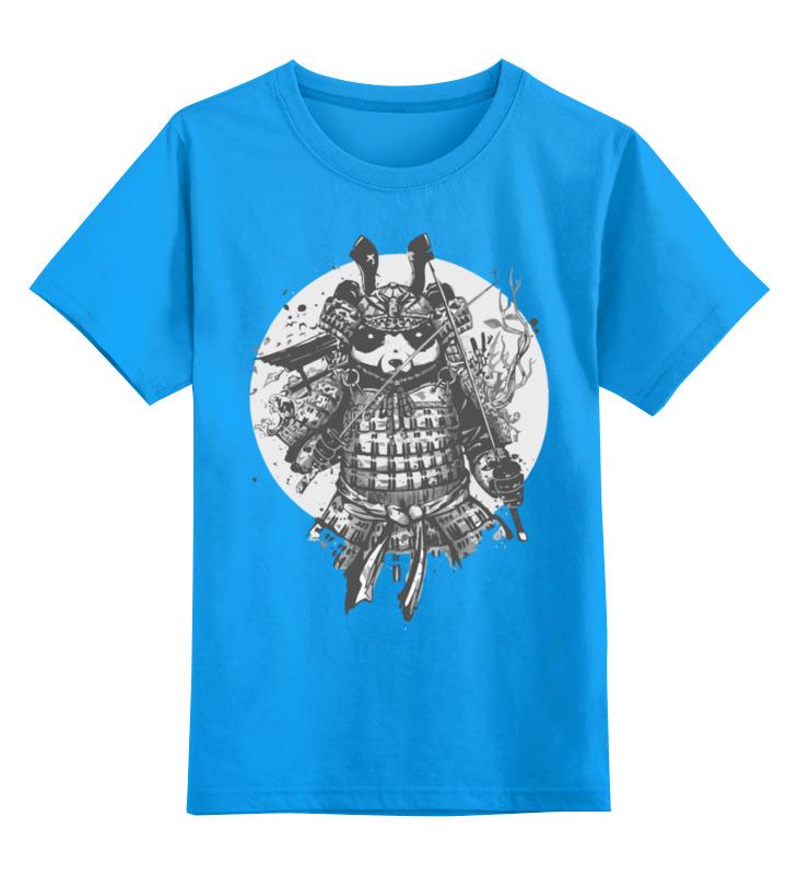 Детская футболка Printio Панда самурай цв.голубой р.128 0000003412604 по цене 990
