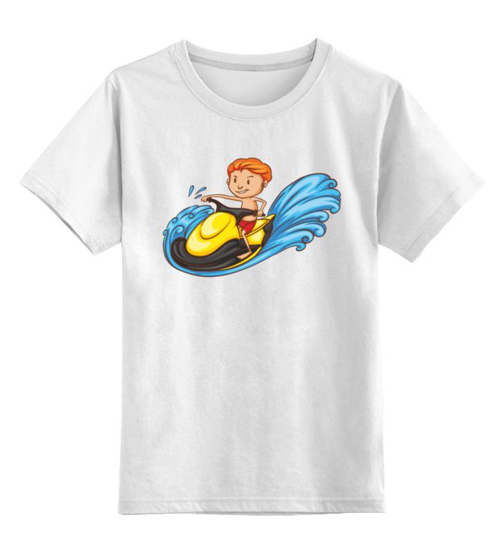 Детская футболка Printio На гребне волны цв.белый р.116 0000003316629 по цене 790