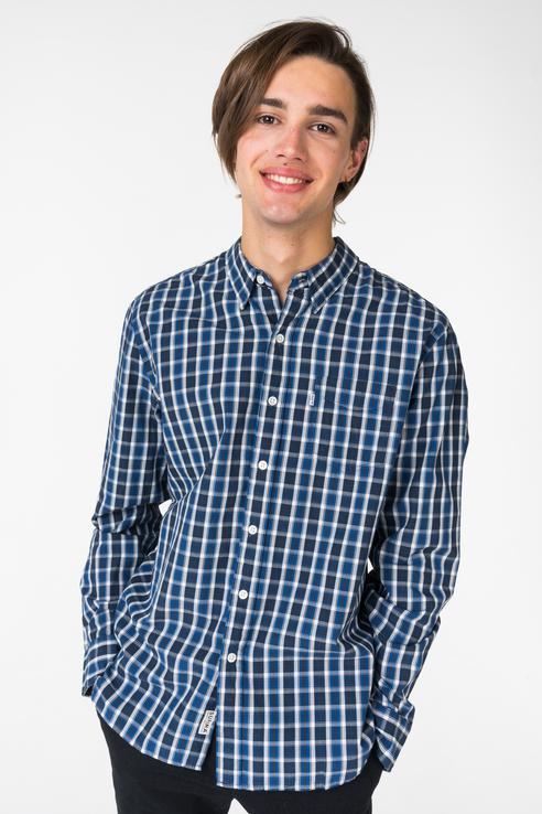 Рубашка мужская Levi's 6582403830 синяя 48