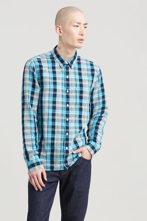 Рубашка мужская Levi's 6582404140 голубая 48