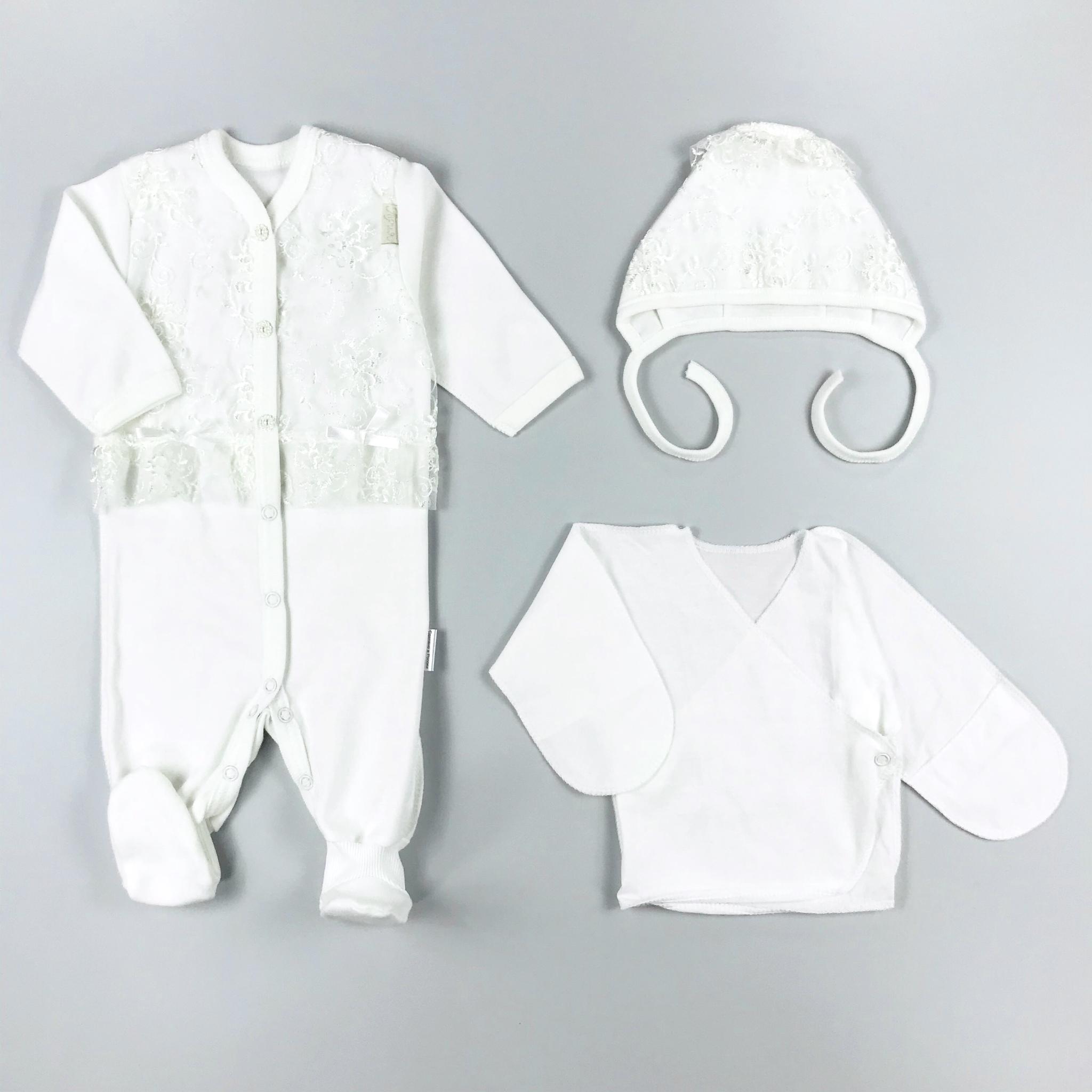 Комплект одежды на выписку Трия Нежность белый,