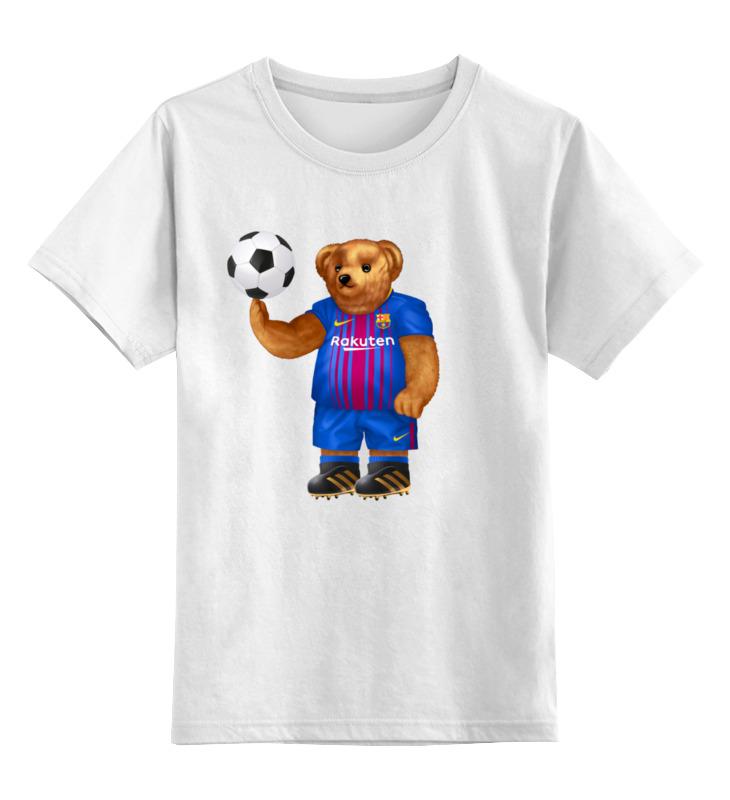 Детская футболка Printio Мишка футболист цв.белый р.116 0000003403043 по цене 790