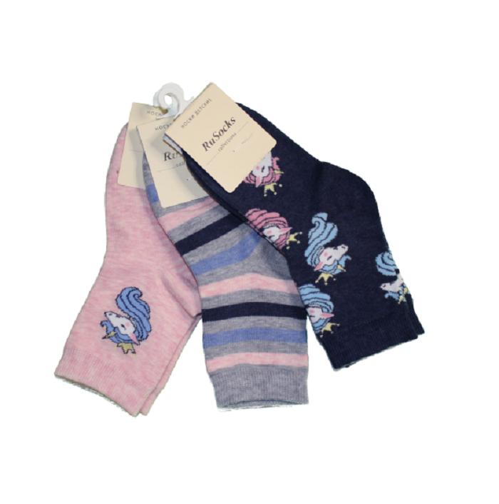 Носки для девочек RuSоскs, цв.разноцветный р.14