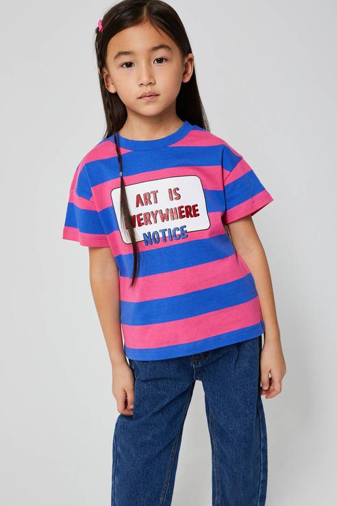 Купить 1803040275, Футболка для девочек Sela цв. разноцветный р-р. 110,