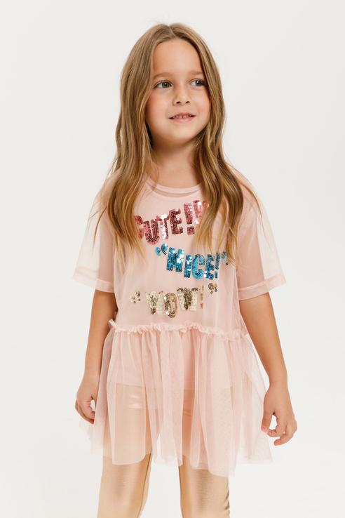 Купить 8120402180, Футболка для девочек Sela цв. розовый р-р. 98,