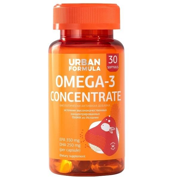 Купить Омега-3 Urban Formula концентрат ДГК ЭПК капсулы 30 шт.