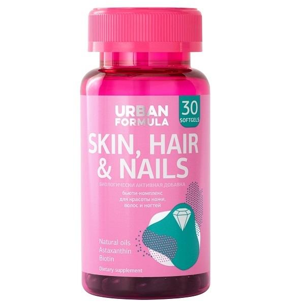 Купить Комплекс для красоты кожи волос и ногтей Urban Formula Skin, Hair & Nails капсулы 30 шт.