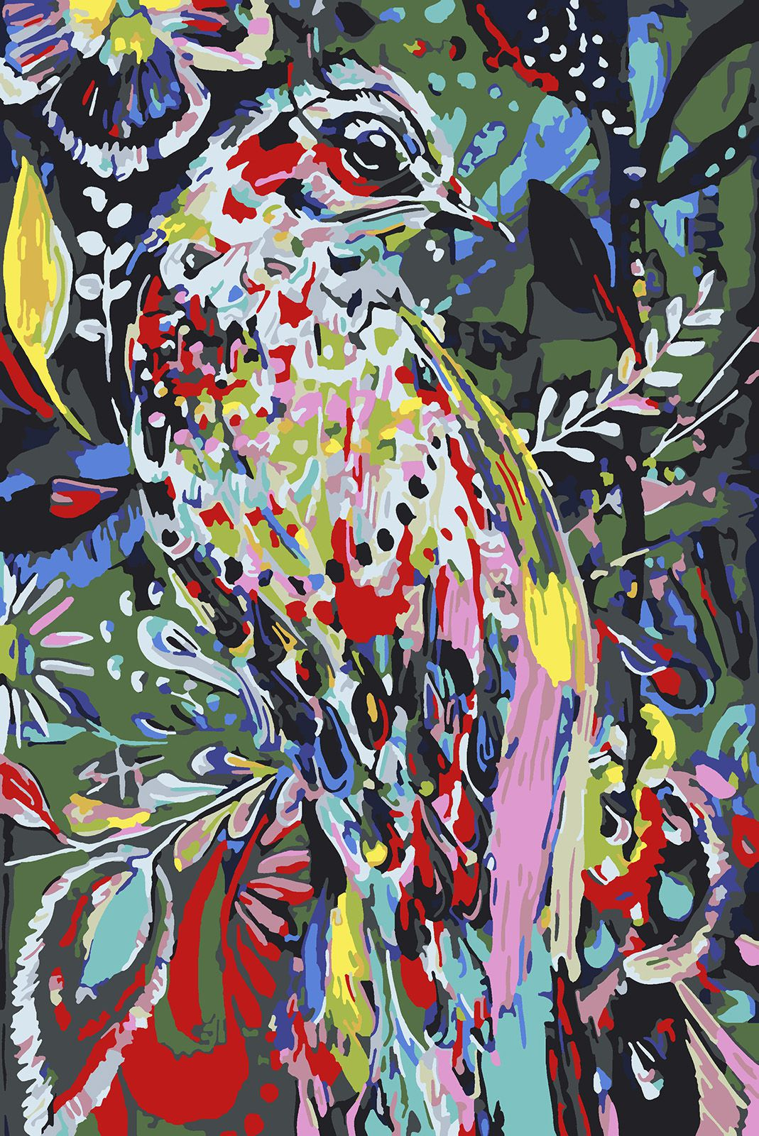 Картина по номерам Красиво Красим Райская птица, 60 х 90 см