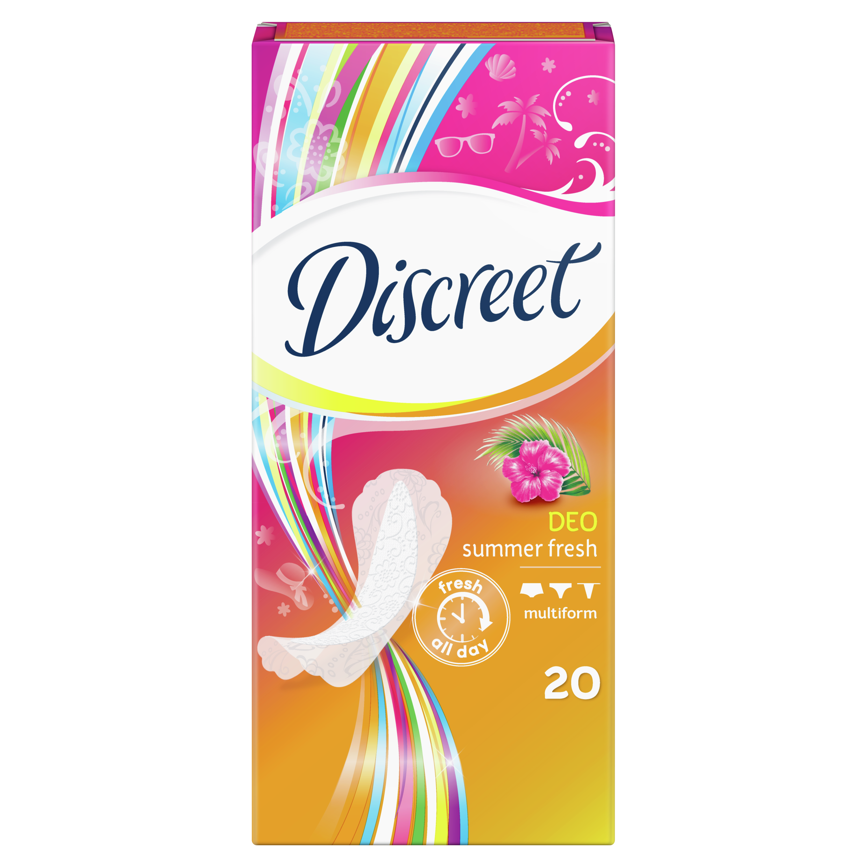 Купить Прокладки Discreet ежедневные Deo Summer Fresh Multiform Single 20шт, прокладки 83728271