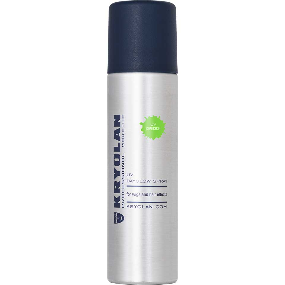 Купить Лак для волос Kryolan УФ/UV-Dayglow Spray, Цв: Green 150 мл, Лак для волос УФ, 150 мл.