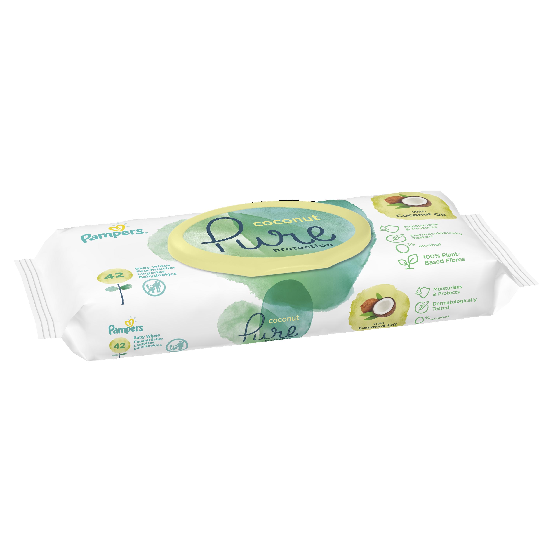 Детские влажные салфетки Pampers Pure Coconut 42 шт.