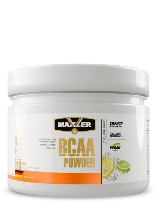 "Аминокислоты MAXLER BCAA Powder Sugar Free ""Лимон-лайм"" (210 г)"