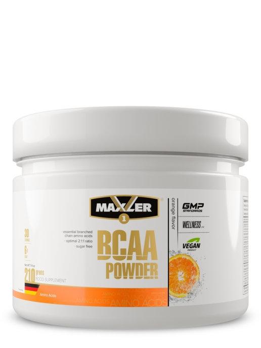 "Аминокислоты MAXLER BCAA Powder Sugar Free ""Апельсин"" (210 г)"