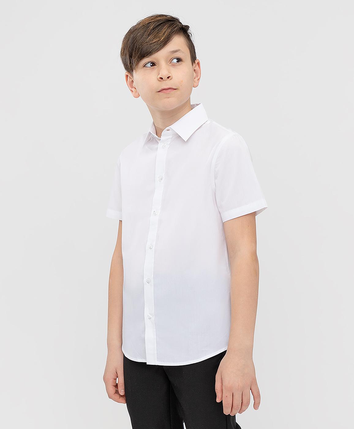 Сорочка белая с коротким рукавом Button Blue 221BBBS23050200 р.140