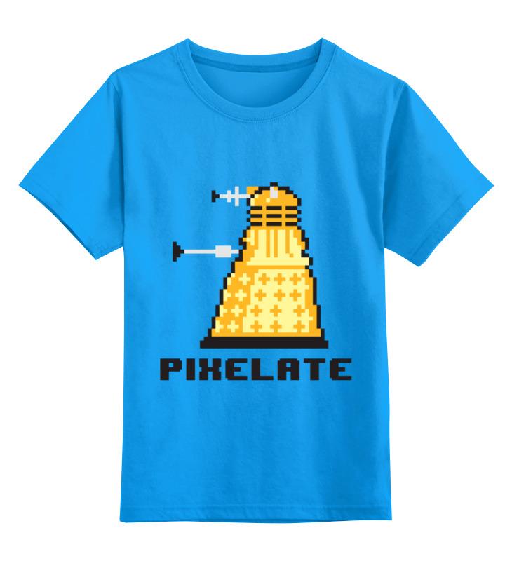 Купить 0000003364925, Детская футболка Printio Пиксели цв.голубой р.104,