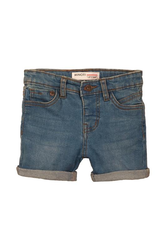 Купить 1DSHORT4 СИНИЙ, Шорты джинсовые MINOTI 1DSHORT4 р.122,
