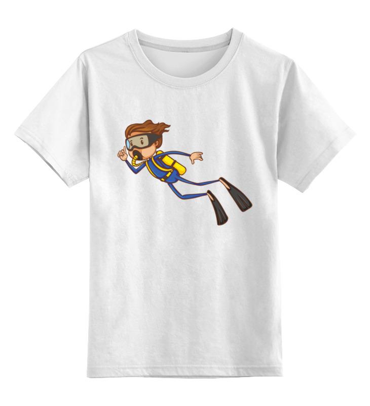 Детская футболка Printio Плавец цв.белый р.164 0000003316628 по цене 790