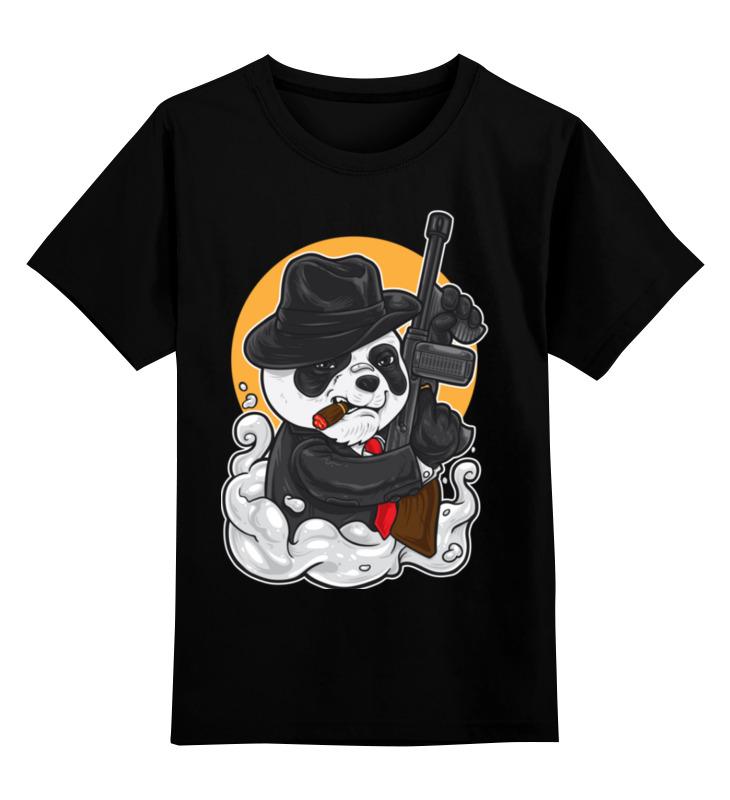 Детская футболка Printio Панда цв.черный р.164 0000003318203 по цене 990